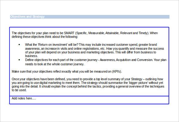 e marketing strategic template free download1