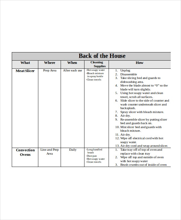 Master-Cleaning-Schedule-Template