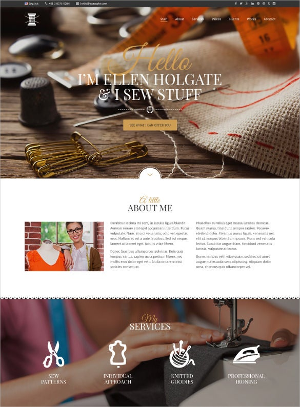 personal design psd template