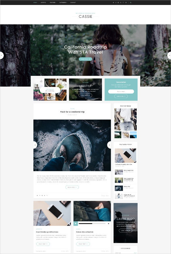 inspiring personal blog psd template