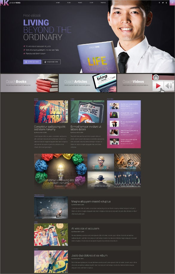 progresive personal page psd template