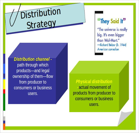 sample product distribution strateies ppt format free template1