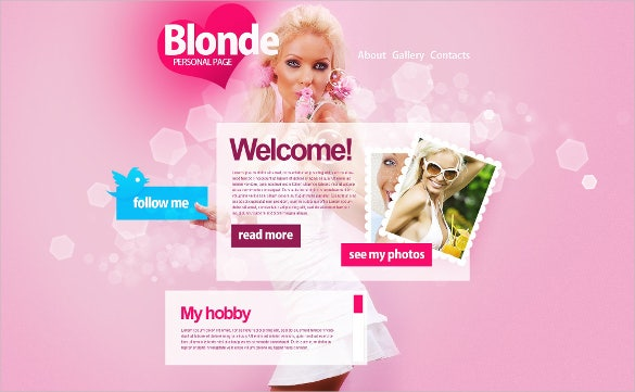 personal page baby psd template