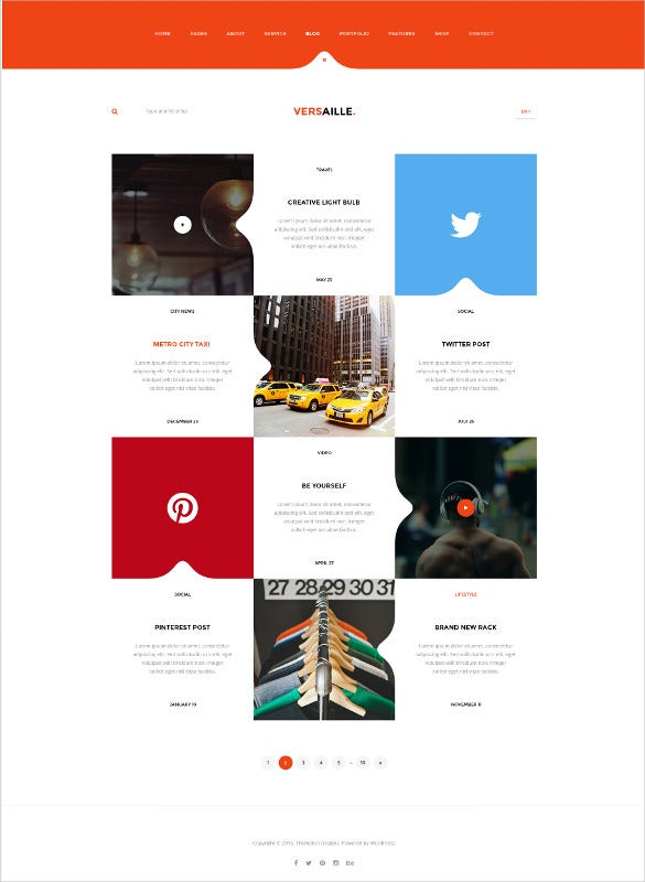 personal blog psd template1
