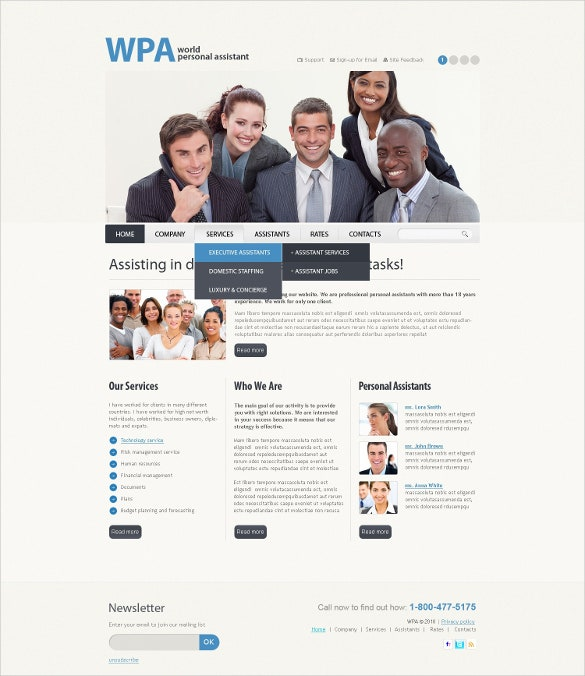 personal business psd template