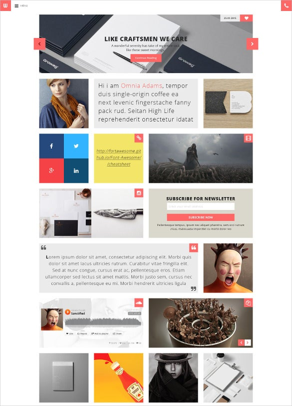 personal blogger psd template