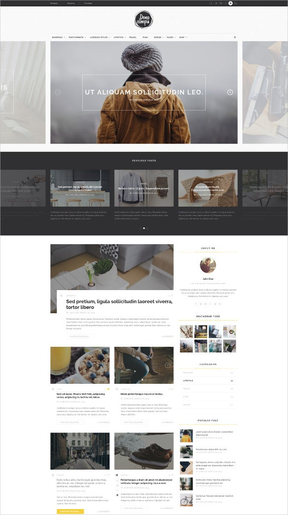 personal blog psd template2