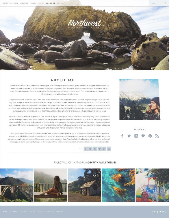 simple personl inviting blogging psd template