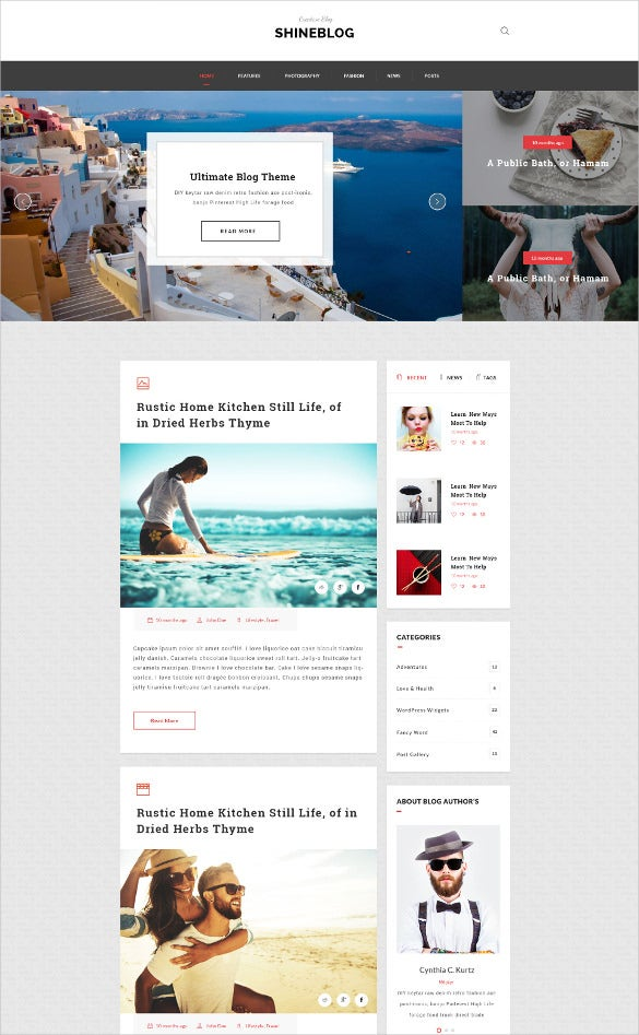 multipurpose personal blogging psd template