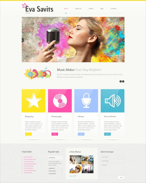personal page wordpress website theme