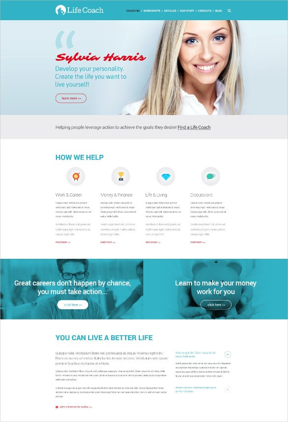 personal life responsive website template