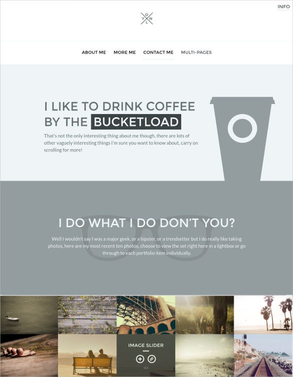 personal portfolio website theme