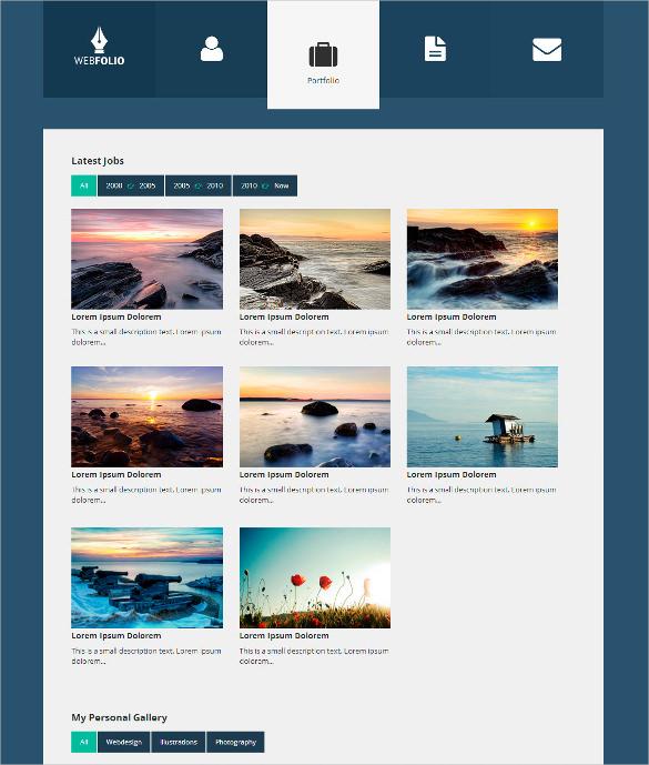 elegant personal portfolio website template
