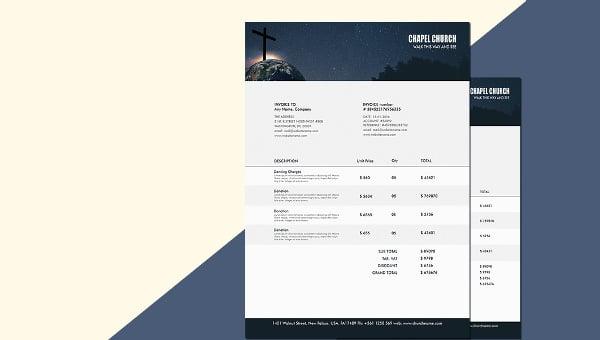 church_invoice template