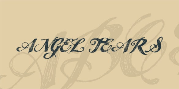free angel tears font