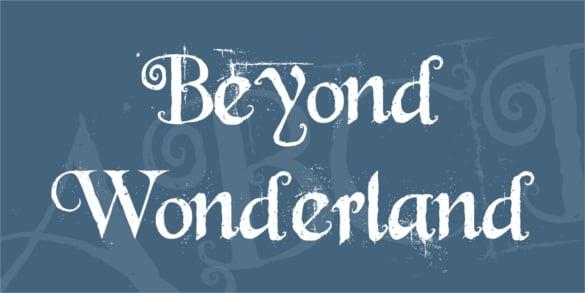 beyond wonderland free calligraphy font