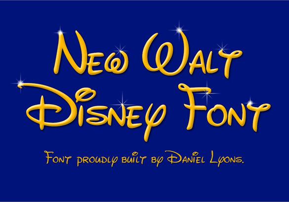 free new waltograph disney font