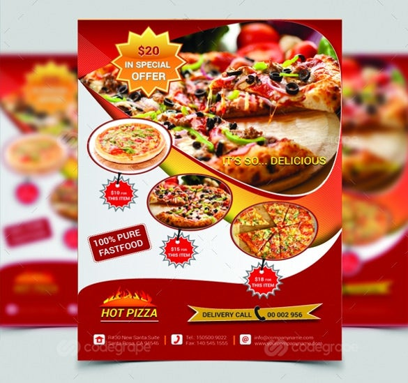 special offer pizza flyer template