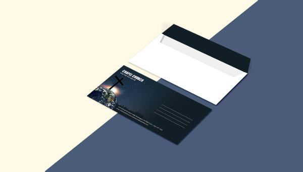 church_envelope template