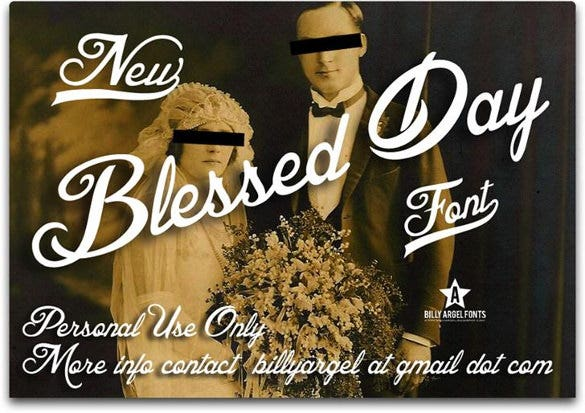 blessed day wedding font ttf format