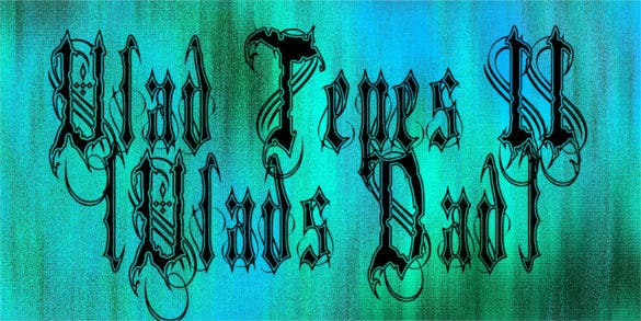 vlad tepes ii tattoo font