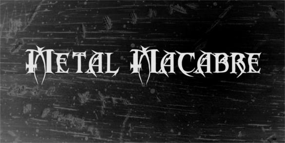metal macabre free commercial font