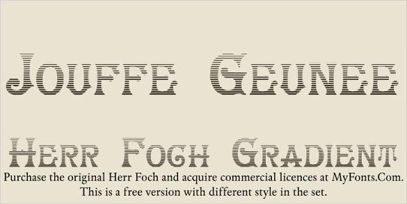 herrfoch free commercial font download