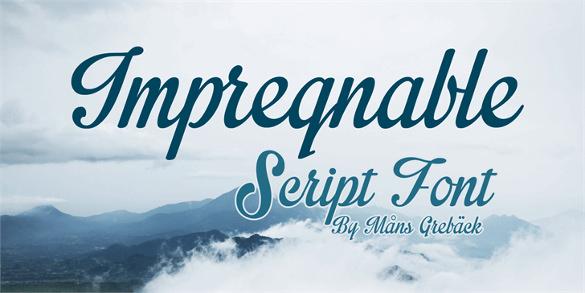 free modern impregnable font download