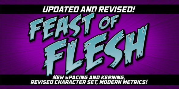 feast of flesh bb retro font family