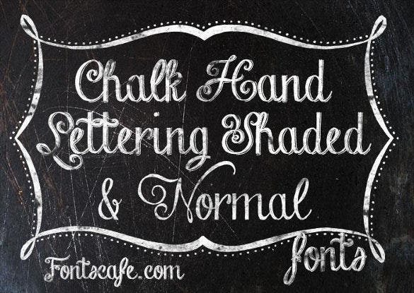 download chalk hand lettering shaded dem