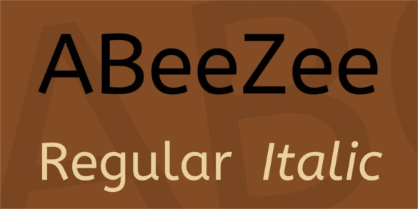 abeezee font family font download