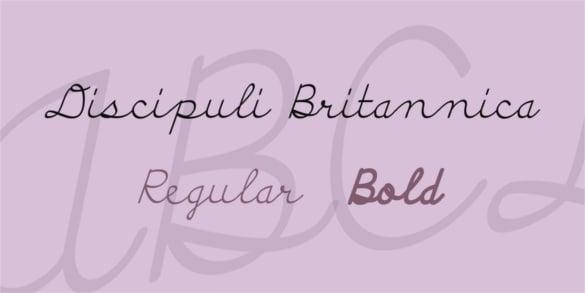 discipuli britannica teacher font family