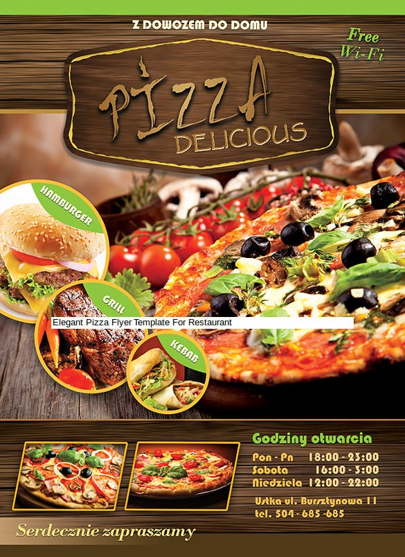 elegant pizza flyer template for restaurant