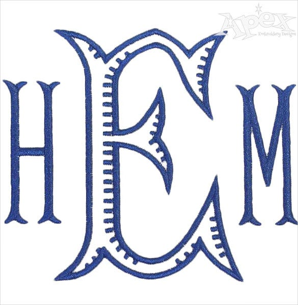ribbed monogram embroidery font download