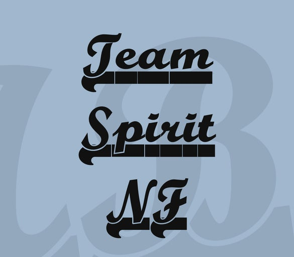 team spirit nf font for free