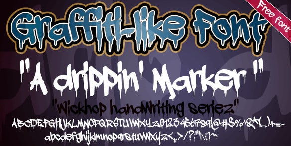 dripping barker hallowen font download