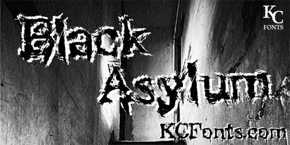 halloween black asylum font free download