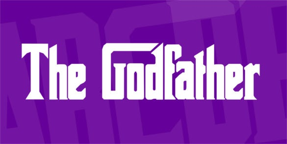 the godfather free royalty font