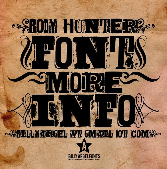 body hunter western font download