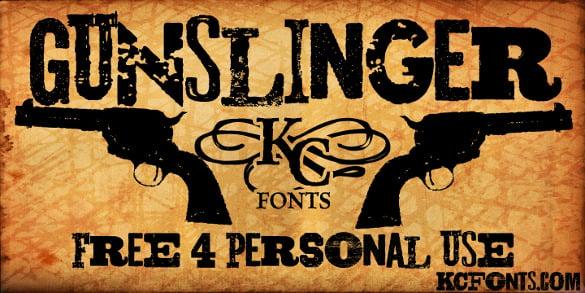 free western gunslinger font