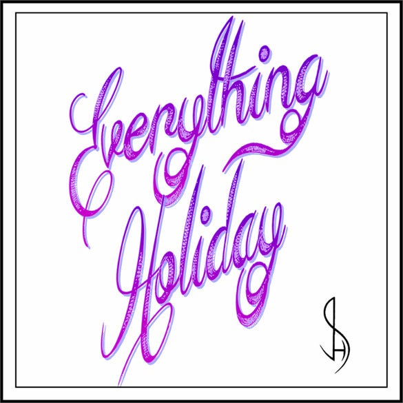 cool everything holiday font download