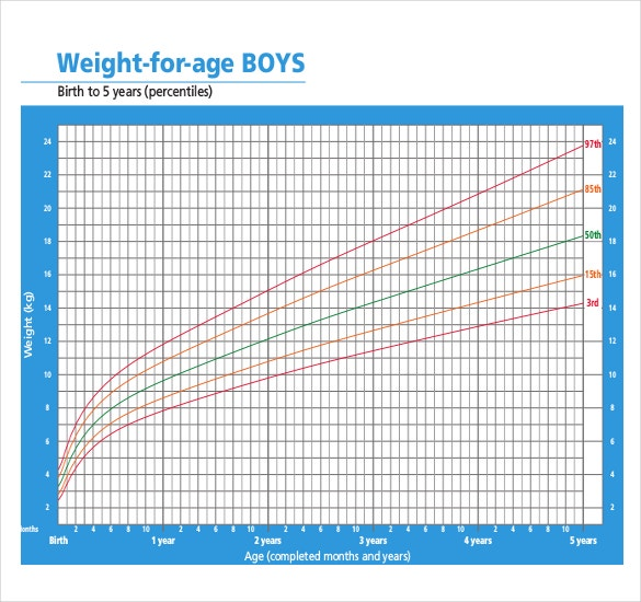 Boys Weight Chart Download in PDF Document Format