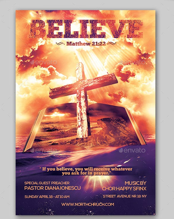 Church flyers 46 free psd ai vector eps format for Free church flyer templates photoshop