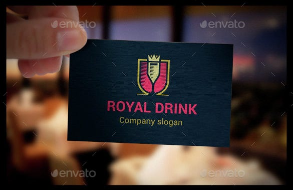 fully editable drink logo template