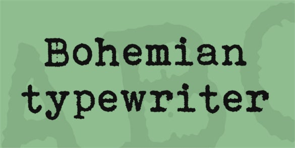 bohemian typewriter font download for free