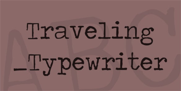 free download traveling typewriter font