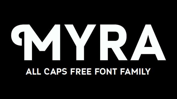 myra free hipster font