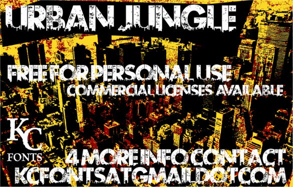 urban jungle stencil font for free