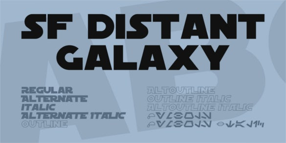 sf distant galaxy font family download
