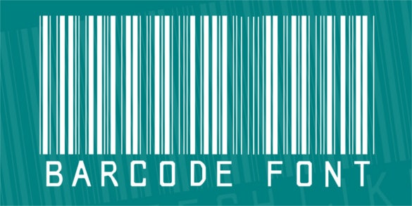 cool barcode font download